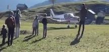 Acemi pilot uçağı amuda kaldırdı!